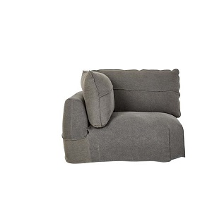 Cove Seamed 1 Seater Corner Sofa - Smoke Linen