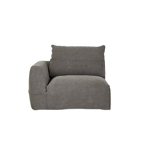 Cove Seamed 1 Seater Left Arm - Smoke Linen