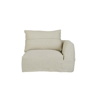 Cove Seamed 1 Seater Right Arm - Shell Linen