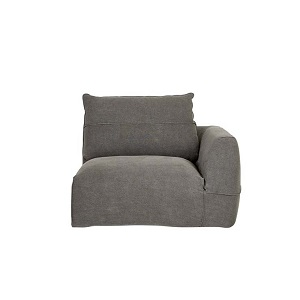 Cove Seamed 1 Seater Right Arm - Smoke Linen