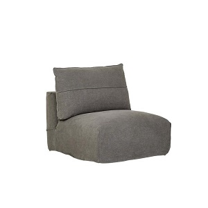 Cove Seamed 1 Seater Armless - Smoke Linen