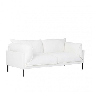 Cove Sleek 2 Seater Sofa - Snow Linen