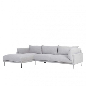 Cove Sleek 3 Seater Left Chaise Set - Ash