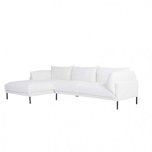 Cove Sleek 3 Seater Left Chaise Set - Snow