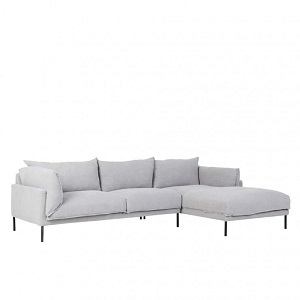 Cove Sleek 3 Seater Right Chaise Set - Ash