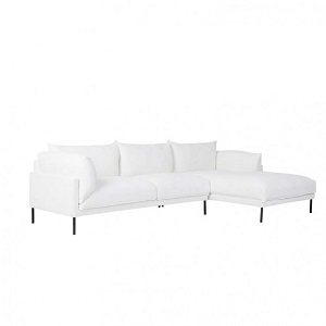 Cove Sleek 3 Seater Right Chaise Set - Snow