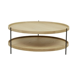 Sketch Humla Coffee Table 90cm - Light Oak