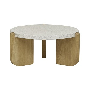 Sketch Native Round Coffee Table Small - Nougat