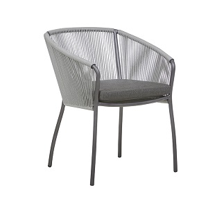 Malaga Dining Arm Chair - Misty Graphite