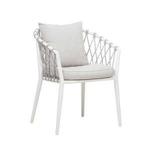 Maui Dining Arm Chair - Frost