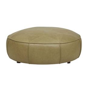 Bogart Compass Ottoman - Olive Leather