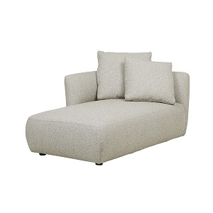 Felix Pebble Left Chaise - Biscuit
