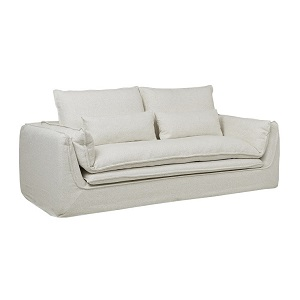 Orlando Seamed 3 Seater Sofa - White Dove