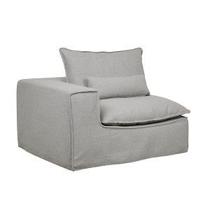 Orlando Slouch 1 Seater Left Arm - Aggregate