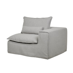 Orlando Slouch 1 Seater Right Arm - Aggregate