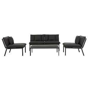Pier Lounge Sofa Set - Black