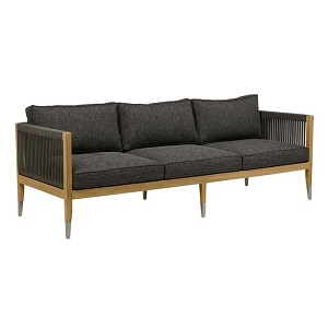 Reef Rope 3 Seater Sofa - Charcoal