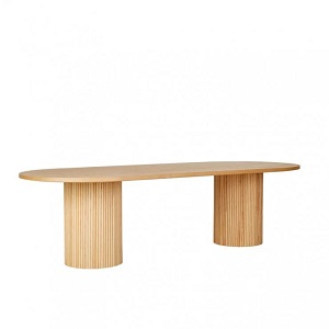 Benjamin Ripple Oval Dining Table - Natural Ash