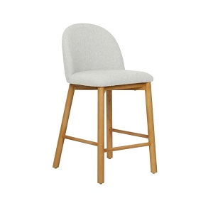 Cohen Barstool - Natural White Tweed