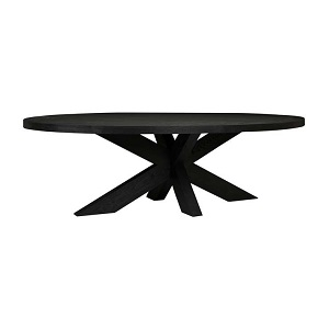 Acre Oval Dining Table - Matt Black
