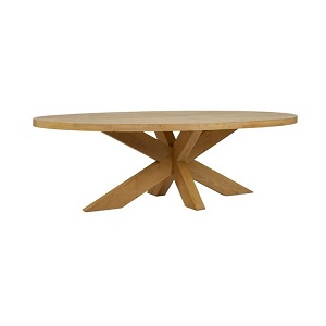 Acre Oval Dining Table - Natural Oak