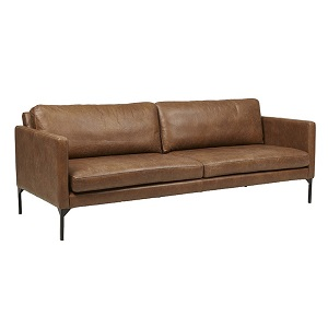 Bogart Square 3 Seater Sofa - Tan