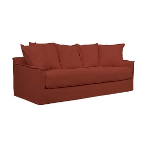 Cove Cloud 3 Seater Sofa - Rust Linen