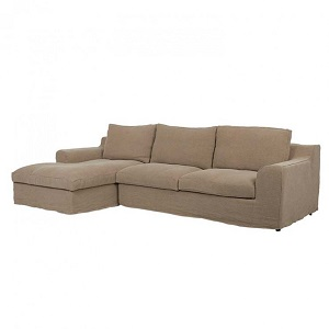 Cove Hamptons 3 Seater Left Sofa Set - Cafe Linen