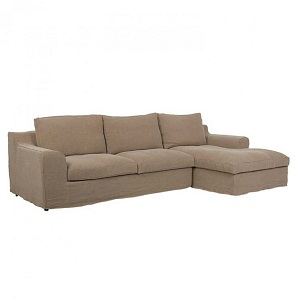 Cove Hamptons 3 Seater Right Sofa Set - Cafe Linen