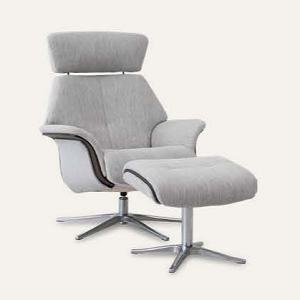 Space 57.57 Recliner & Ottoman by IMG - Fabric
