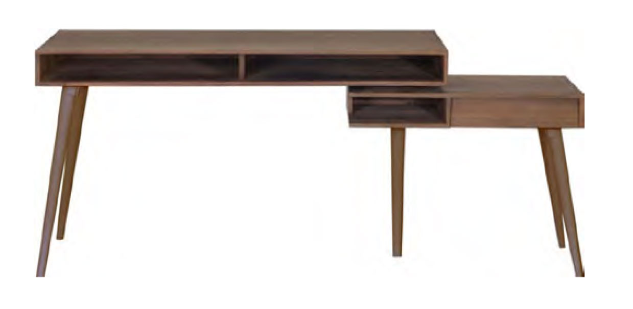 Fusion - Writing Desk with teak legs