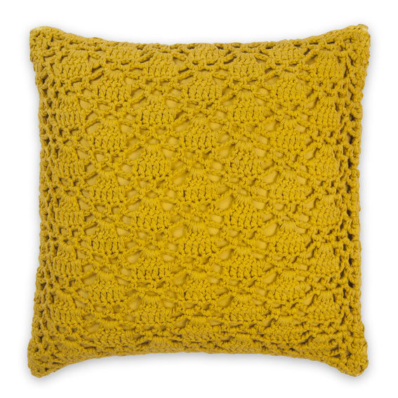 Saffron Crochet Cushion