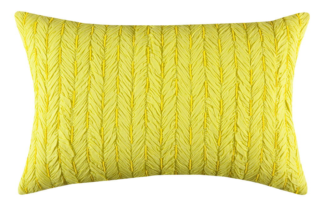 Mala Cushion in Chartreuse
