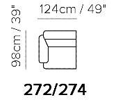 Schematic B895 2 seat sofa
