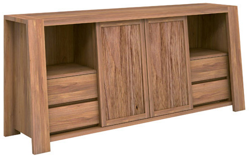TRAPESIUM high dresser<BR>2 sliding doors + 4 drawers + 2 shelves<BR>by d-BODHI