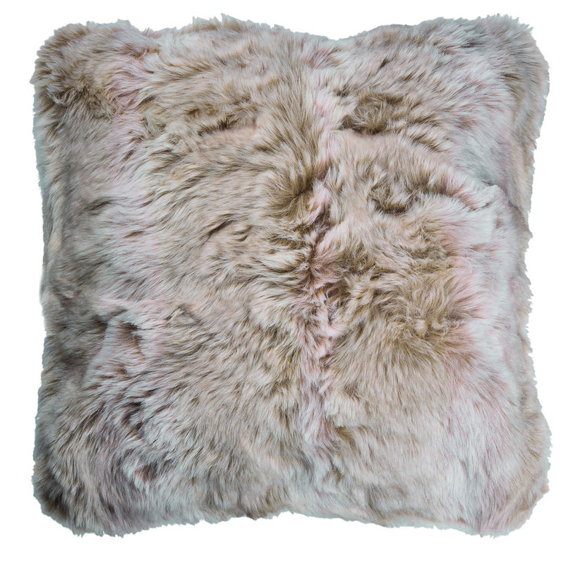 Faux Fur Cushion in Angorra