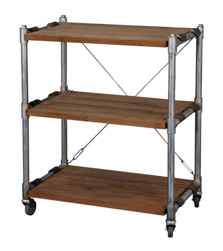 Kasting Book Rack with 3 shelves - narrow