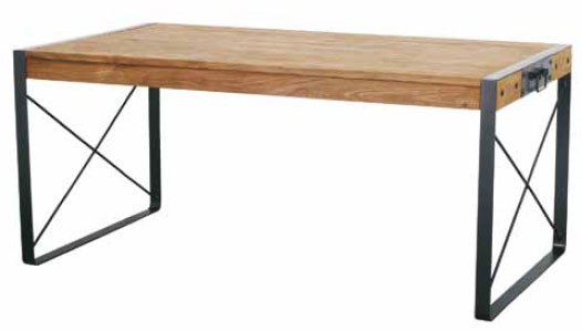 Spike Dining Table with 2 drawers