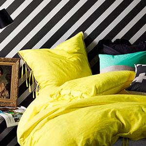 Maison Bed Linen by Aura (Bright Yellow)