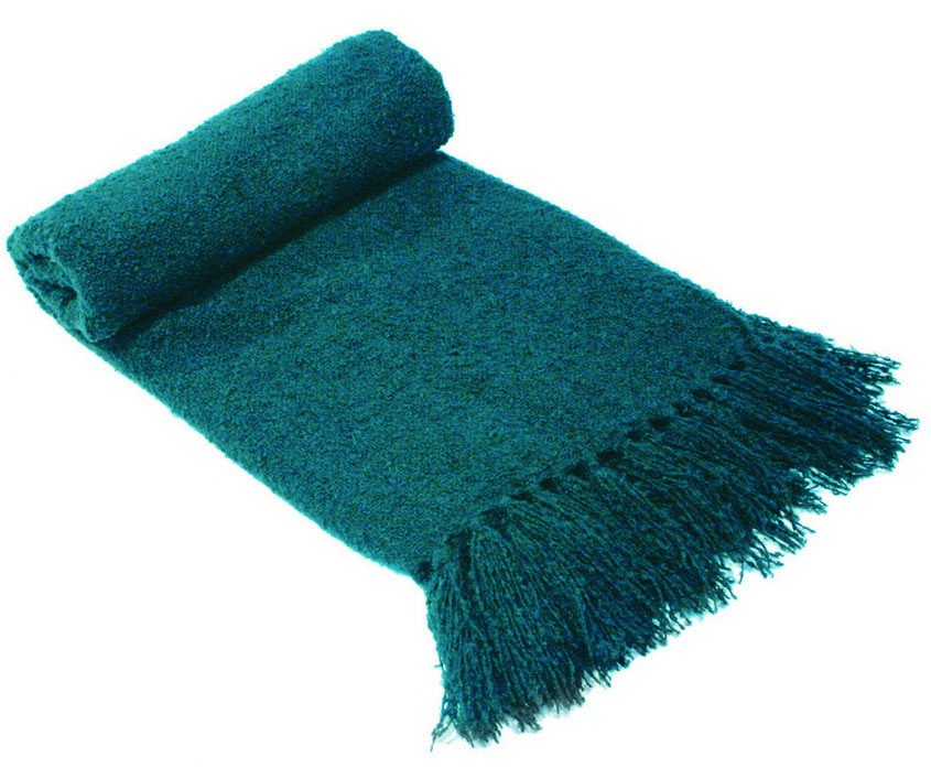 Boucle Throw - Teal