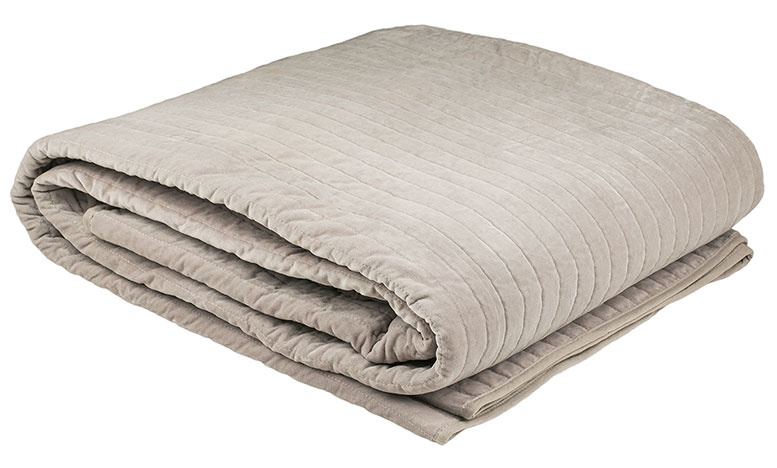Cotton Velvet Blanket - ash