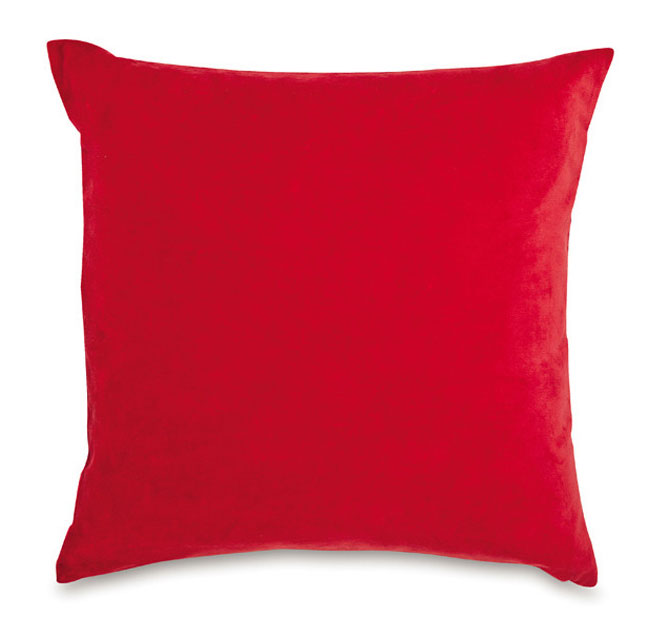 Velvet Cushion Scarlet
