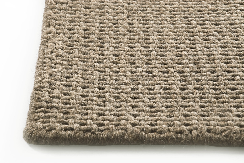 Taupe Cross Weave Rug