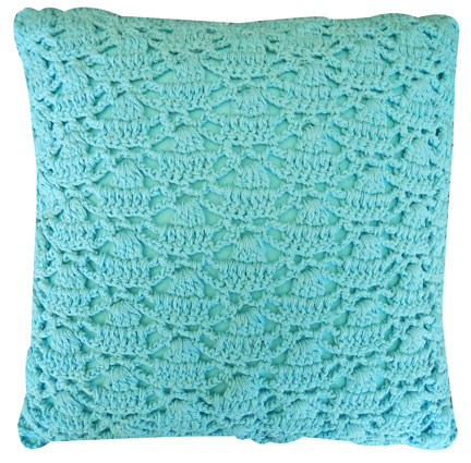 Blue Crochet Cushion