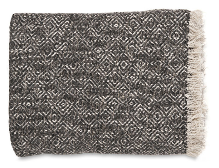 Diamond Weave Throw - Soot