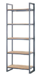 Fendy 5 Shelf Slim Bookrack