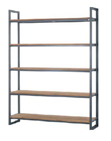 Fendy 5 Shelf Wide Bookrack