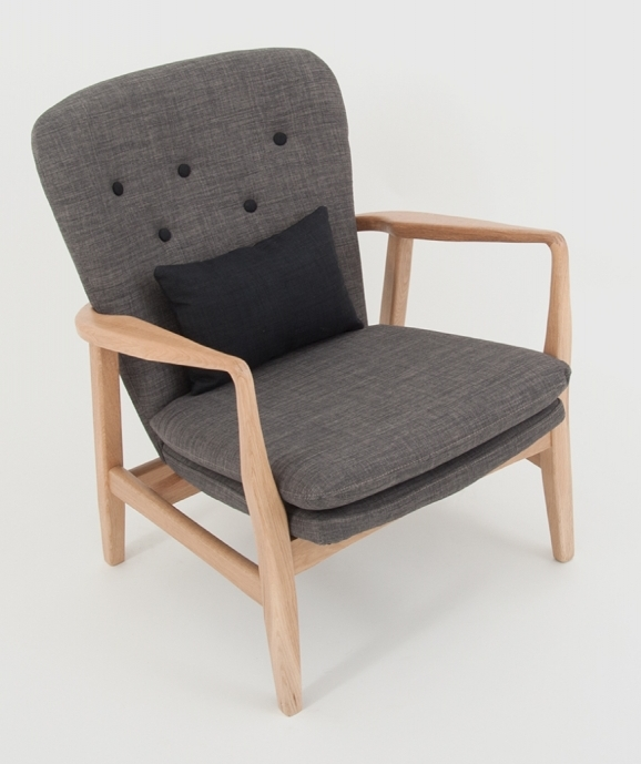 Max armchair in grey