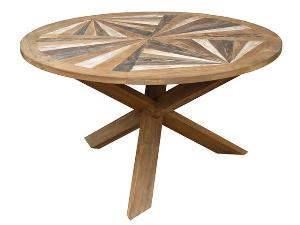 aspen trestle round dining table