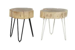 shelter log side table